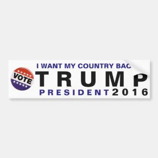 私は私の国の背部切札2016の政治バンパーがほしいと思います バンパーステッカー