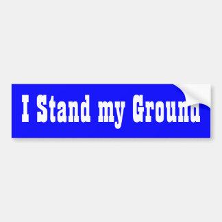 私は私の地面を立てます バンパーステッカー