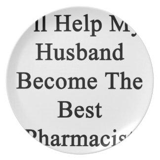 私は私の夫が最も最高のな薬剤師になるのを救済します プレート
