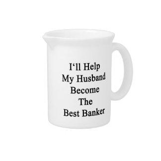 私は私の夫が最も最高のな銀行家になるのを救済します ピッチャー