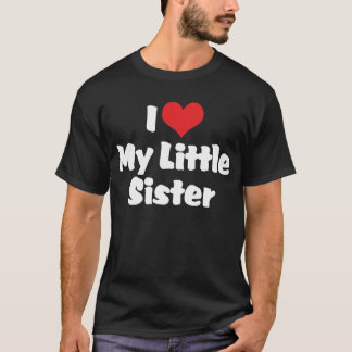私は私の妹の暗闇のTシャツを愛します Tシャツ