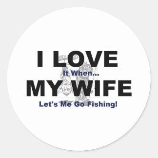 私は私の妻が私が採取することを行くことを許可するときそれを愛します ラウンドシール