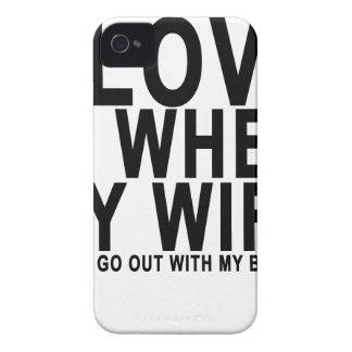 私は私の妻が私が私のBUDDIと出かけることを許可したときにそれを愛します Case-Mate iPhone 4 ケース