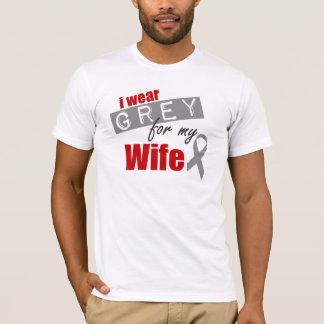 私は私の妻のための灰色を身に着けています Tシャツ