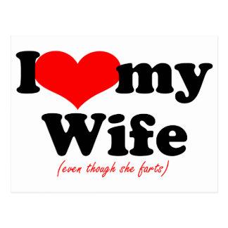私は私の妻を愛します ポストカード