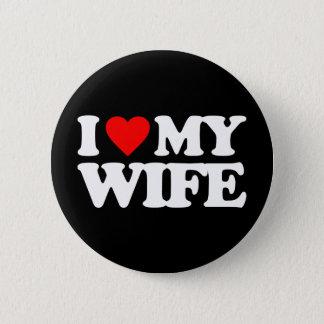 私は私の妻を愛します 5.7CM 丸型バッジ
