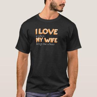 私は私の妻を愛します Tシャツ