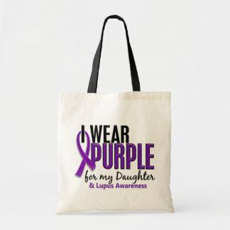 私は私の娘10のループスのための紫色を身に着けています トートバッグ