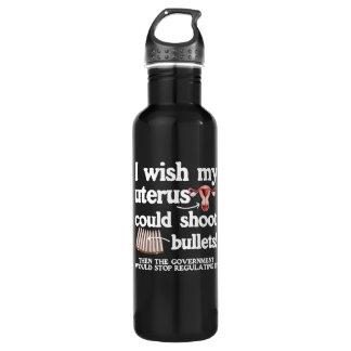 私は私の子宮が白.p弾丸を- -撃つことができることを望みます ウォーターボトル