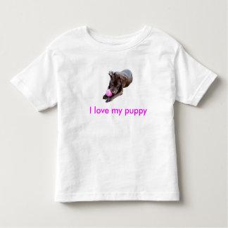 私は私の子犬を愛します トドラーTシャツ