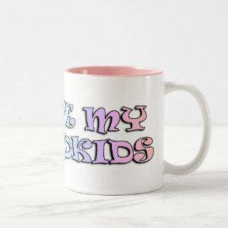 私は私の孫のマグを愛します ツートーンマグカップ