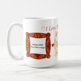 私は私の孫を愛します! カメオの写真のマグ コーヒーマグカップ