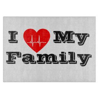 私は私の家族のカスタムなハートのまな板を愛します カッティングボード