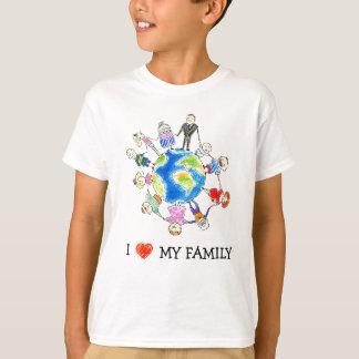 私は私の家族のTシャツを愛します Tシャツ
