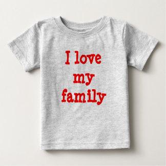 私は私の家族を愛します ベビーTシャツ