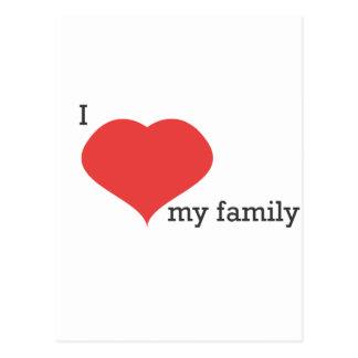 私は私の家族を愛します ポストカード