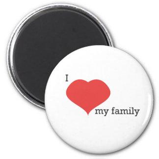 私は私の家族を愛します マグネット