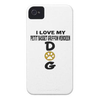 私は私の小さいバセット犬のGriffon Vendeen犬のデザインを愛します Case-Mate iPhone 4 ケース