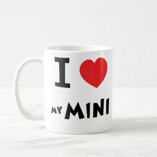 私は私の小型を愛します コーヒーマグカップ