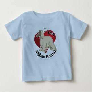 私は私の幸せで愛らしくおもしろいで及びかわいいアフガンハウンドを愛します ベビーTシャツ