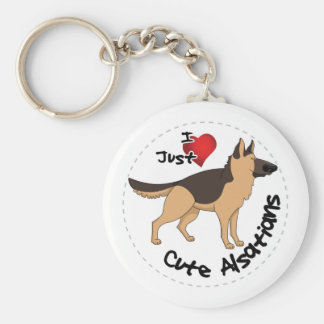 私は私の幸せで愛らしくおもしろいで及びかわいいアルザス犬を愛します キーホルダー