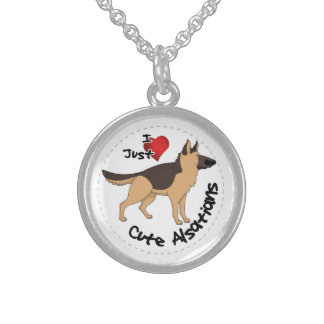 私は私の幸せで愛らしくおもしろいで及びかわいいアルザス犬を愛します スターリングシルバーネックレス