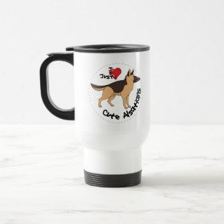 私は私の幸せで愛らしくおもしろいで及びかわいいアルザス犬を愛します トラベルマグ