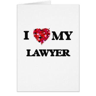 私は私の弁護士を愛します カード