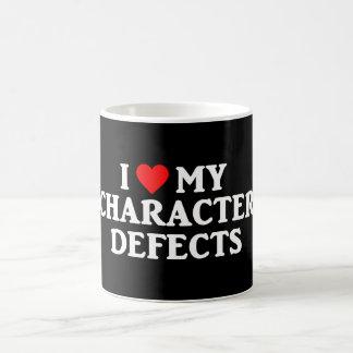 私は私の性格上の欠点の回復節酒のマグを愛します コーヒーマグカップ