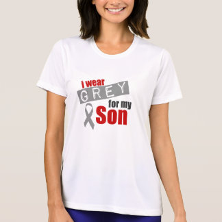 私は私の息子のための灰色を身に着けています Tシャツ