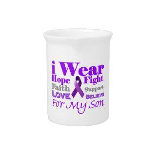 私は私の息子プロダクトのための紫色(癲癇)を身に着けています ピッチャー
