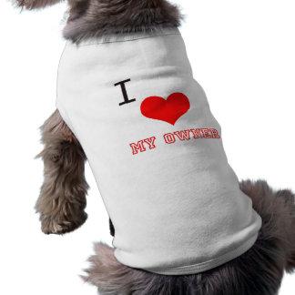 私は私の所有者の犬によって肋骨で補強されるタンクトップを愛します ペット服