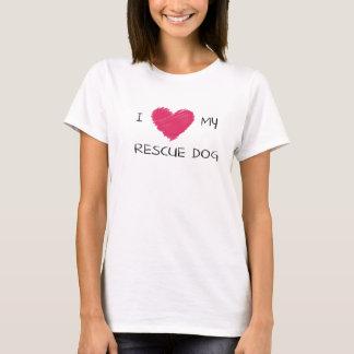 私は私の救助のハートのTシャツを愛します Tシャツ