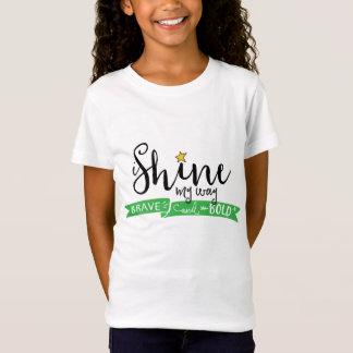 私は私の方法勇敢で、はっきりしたな女の子のワイシャツを照らします Tシャツ