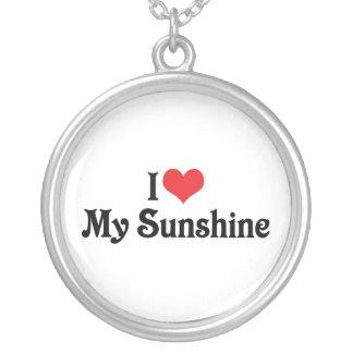 私は私の日光を愛します シルバープレートネックレス
