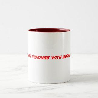 私は私の朝ダニージェイとの始まります! ツートーンマグカップ