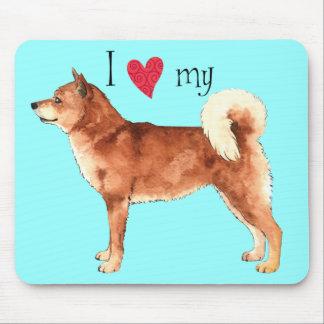 私は私の柴犬を愛します マウスパッド