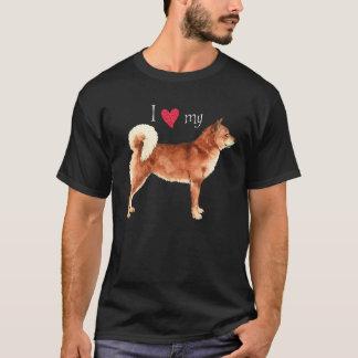 私は私の柴犬を愛します Tシャツ