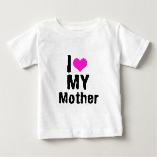 私は私の母を愛します ベビーTシャツ