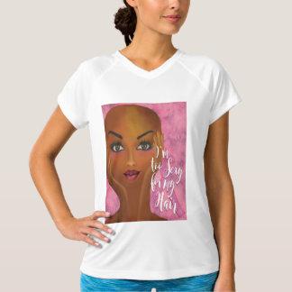 私は私の毛の乳癌の認識度のために余りにセクシーです Tシャツ