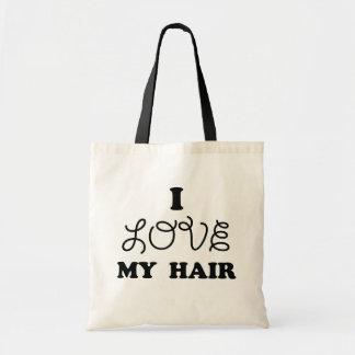 私は私の毛を愛します トートバッグ