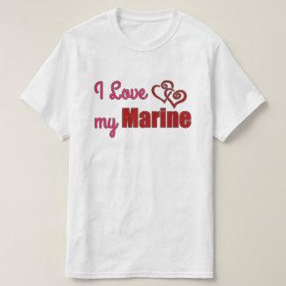 私は私の海兵隊員、価値ワイシャツを愛します Tシャツ