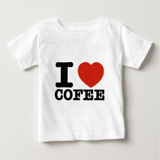 私は私の熱いコーヒーを愛します ベビーTシャツ