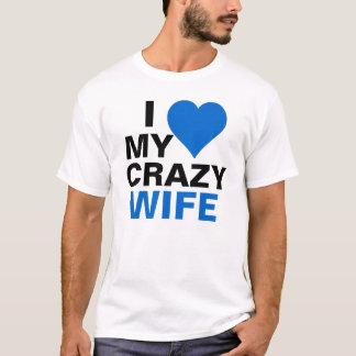 私は私の熱狂するな妻を愛します Tシャツ