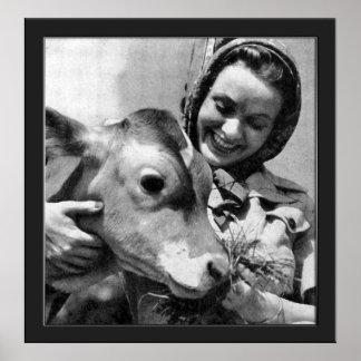 私は私の牛を愛します ポスター