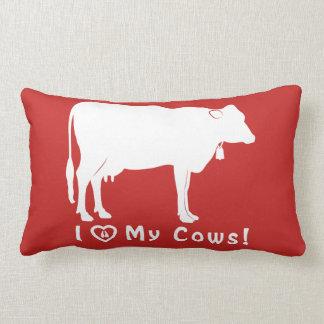 私は私の牛を愛します! ランバークッション