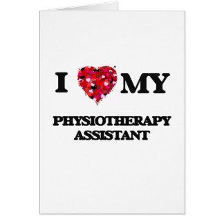 私は私の物理療法の助手を愛します カード