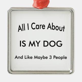 私は私の犬について気になります メタルオーナメント