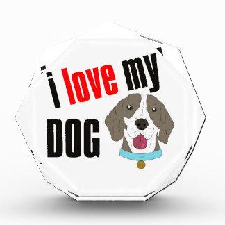私は私の犬の漫画を愛します 表彰盾