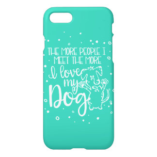 私は私の犬のiPhone 7の場合-ミント--を愛します iPhone 8/7 ケース